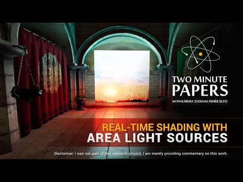 Real-Time Shading With Area Light Sources | Two Minute Papers