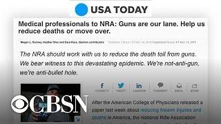 #ThisIsOurLane: Doctors push back on NRA over gun debate
