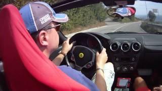 Driving Ferrari F430 Spider at twisty road