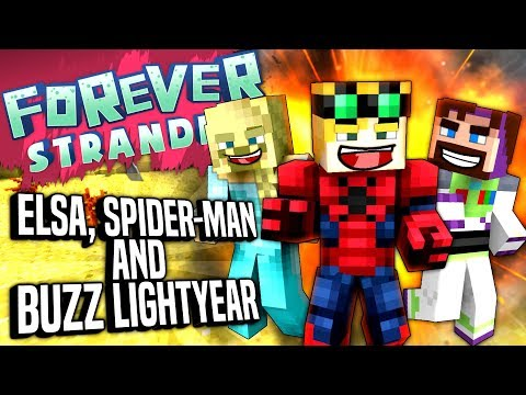 Minecraft - ELSA, SPIDER-MAN AND BUZZ LIGHTYEAR - Forever Stranded #93