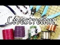 Create along with me Live Stream ⎮ Live haul and unboxing