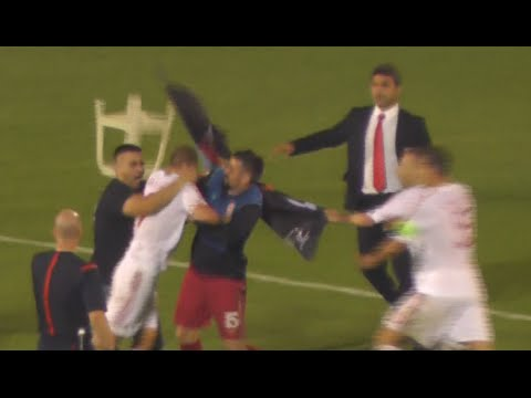 Serbia v Albania football abandoned over drone flag stunt fury