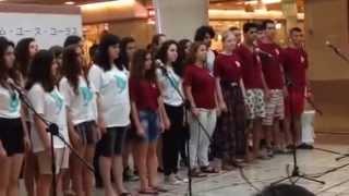 A street performance by Jerusalem Youth Chorus at Zest Oike, Kyoto ...