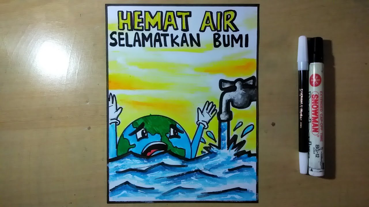 Poster Menghemat Air How To Draw Save Water Poster Step By Step Youtube