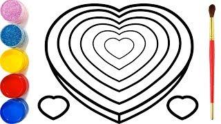 Gambar cover Vẽ Trái tim 3D đơn giản và tô màu cho bé | Dạy bé vẽ | Dạy bé tô màu | Mewarnai Hati