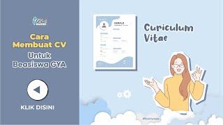 Cara Membuat Cv Untuk Beasiswa Gya Youtube