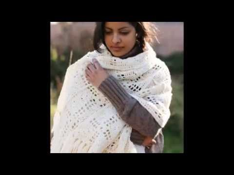 ВЯЗАНИЕ ШАЛЕЙ КРЮЧКОМ - видео - 2018 / KNITTING shawls HOOK - Video / KNITTING Schals HOOK - Video