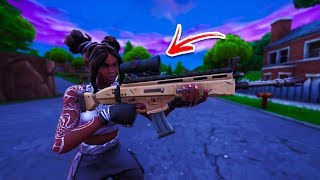 Cómo utilizar THERMAL SCOPE en CUALQUIER GUN mediante el uso de este fallo fácil en Fortnite! (Alcance en cualquier arma)