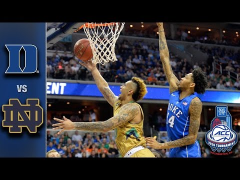 Duke vs. Notre Dame 2016 ACC Basketball Tournament Highlights