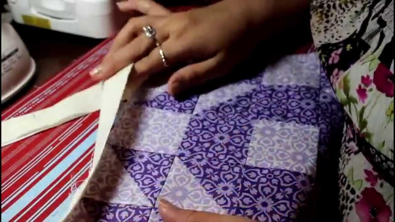 Quilt Binding joining end easily 2 1/2' binding - YouTube : ending quilt binding - Adamdwight.com