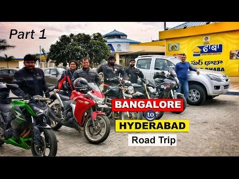 1400 kms of Ride to Hyderabad from Bangalore - Part 1 on Isuzu, Benelli, Kawasaki, Triumph, Honda