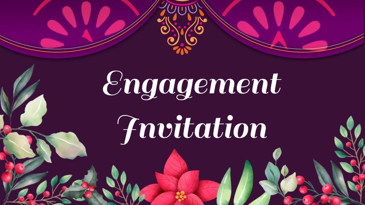 indian engagement invitation video maker online  youtube
