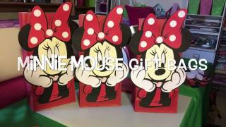 Cricut Machine Minnie Mouse Party Bags and Disney Cars Centerpieces