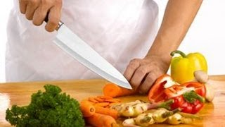!!! Шеф нож !!! Как его держать. Как им резать и разделывать рыбу и мясо.