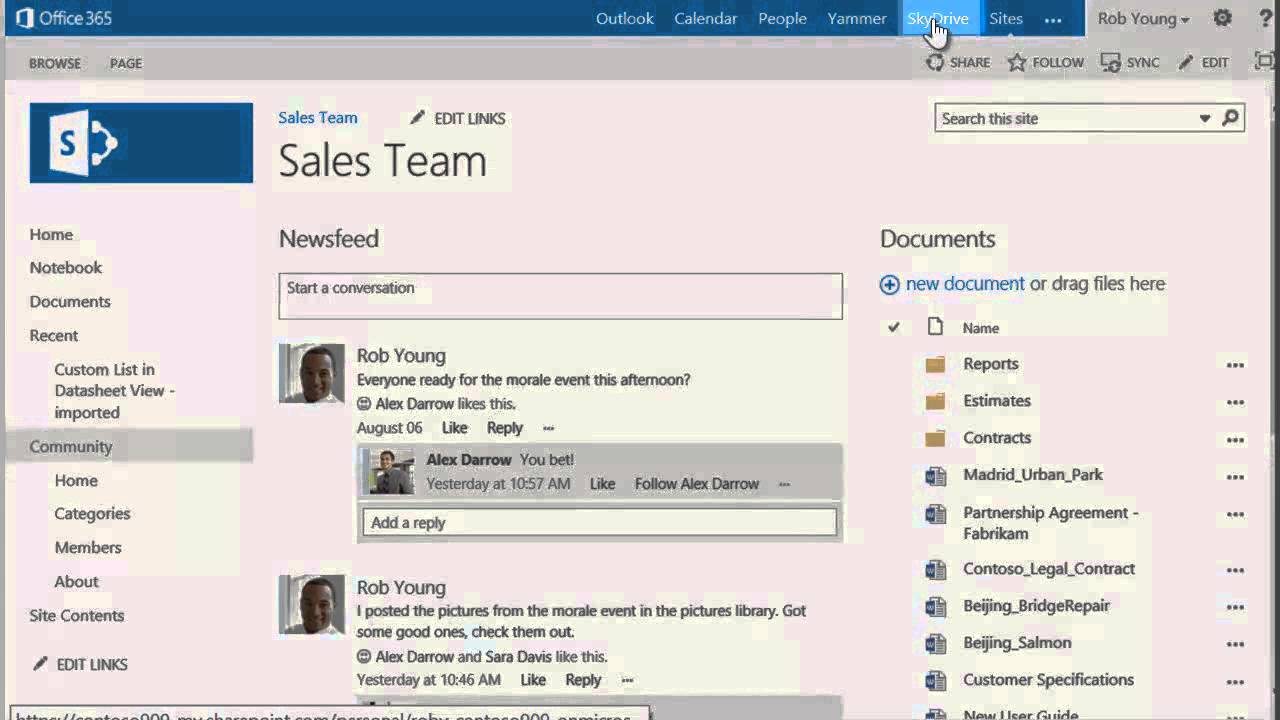 SharePoint 2013 and Office 365 - View documents and folders shared ...