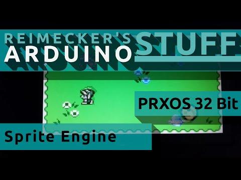 PrXoS � Arduino Retro GFX Engine 160x96 Sprite Demo