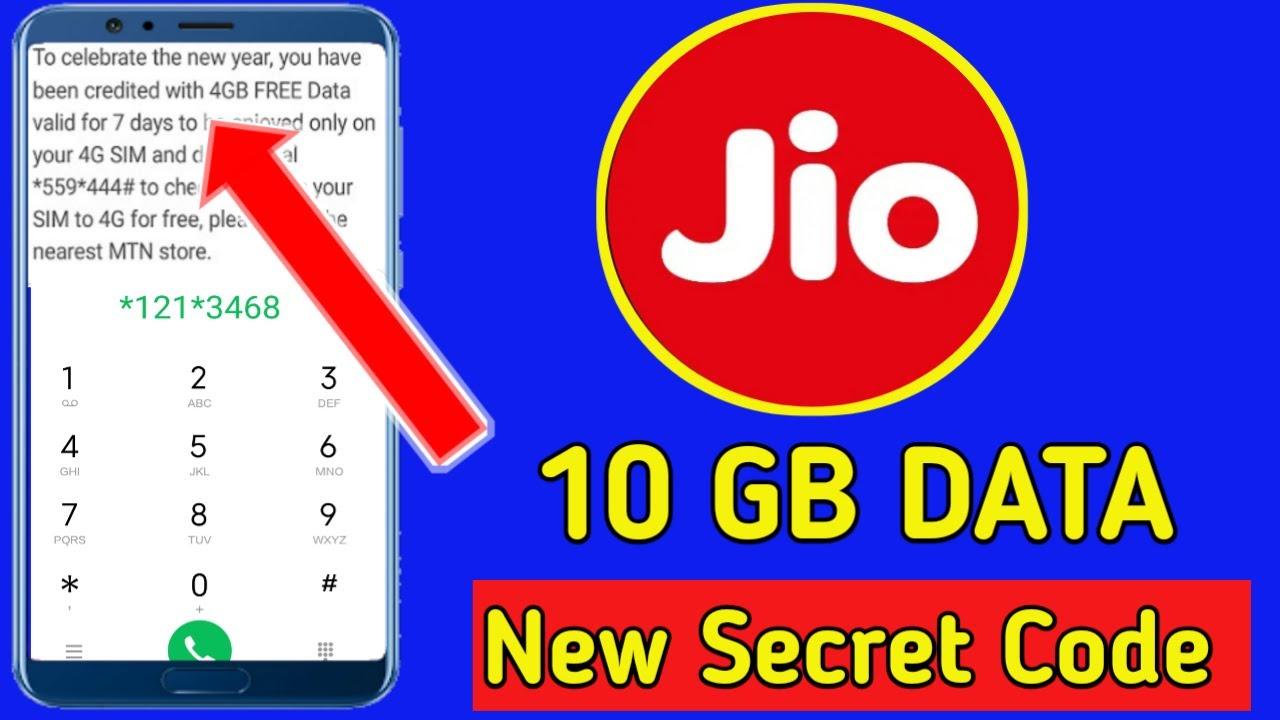 Jio free 10 GB data code 2020, Jio free data Tricks 2020