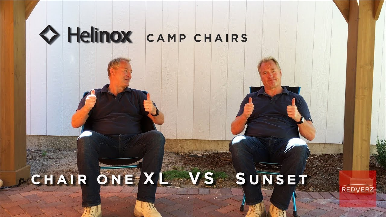 REDVERZ Helinox Chair One XL vs Sunset Chair Comparison & REDVERZ Helinox Chair One XL vs Sunset Chair Comparison - YouTube