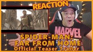 SPIDER-MAN: FAR FROM HOME - Official Teaser Trailer REACTION