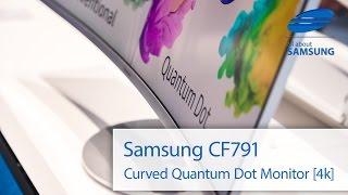 Samsung CF791 Curved Monitor mit Quantum Dot im Hands On deutsch 4k