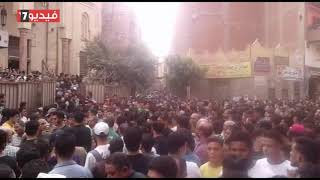 جنازة مهيبة للطالب محمود البنا ضحية البلطجة فى المنوفية