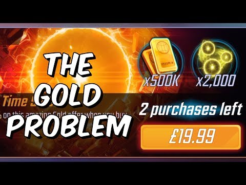 The Gold Problem - Low Drop Rates & Terrible Value - Marvel Strike Force