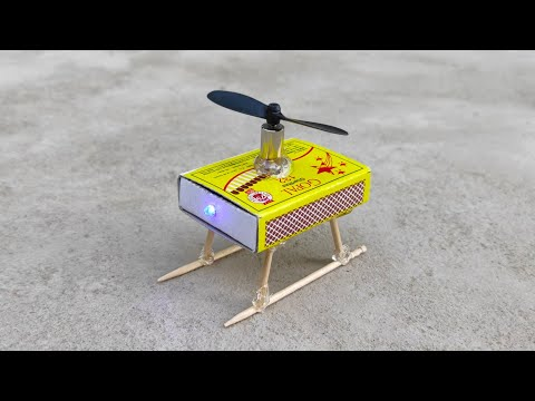 how-to-make-helicopter-matchbox-helicopter-toy-diy