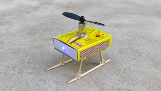 how to make helicopter matchbox | Diy helicopter  | Rc helicopter