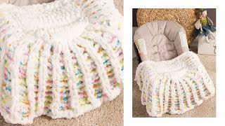 Alize Puffy Color ile Puset Battaniye - STROLLER BLANKET WITH ALİZE PUFFY COLOR