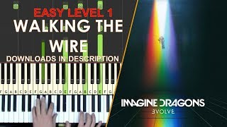 How to play Walking The Wire Imagine Dragons easy LEVEL 1 piano cover tutorial for kids Mp3