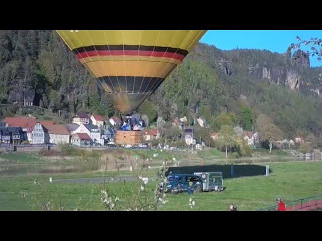 Webcam Elbaussicht Ballonstart am 23.04.2020