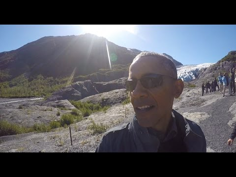 President Obama at the Signpost of Climate Change