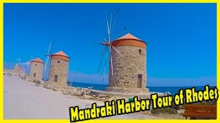 Mandraki Harbour, Rhodes, Greece. Travel Vlog to Rhodes. The Legendary Mandraki Harbour of Rhodes