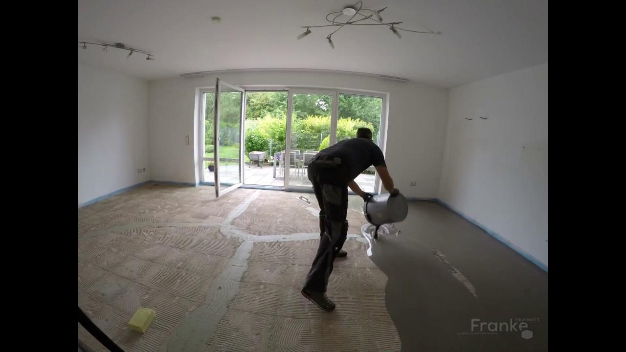 Fußboden Nivelliermasse ~ Boden fußboden ausgleichen untergrund spachteln und