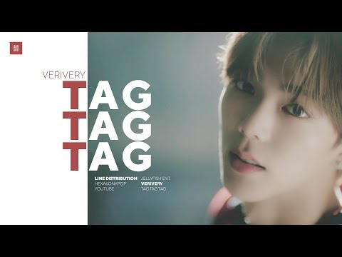 VERIVERY - Tag Tag Tag Line Distribution (Color Coded)
