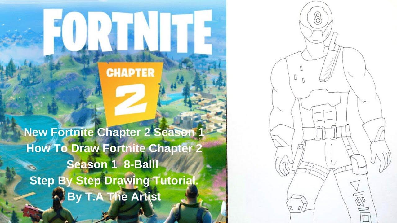 New Fortnite Chapter 2 Season 1 Battle Pass Skin How To Draw Fortnite Chapter 2 8 Ball Skin Youtube