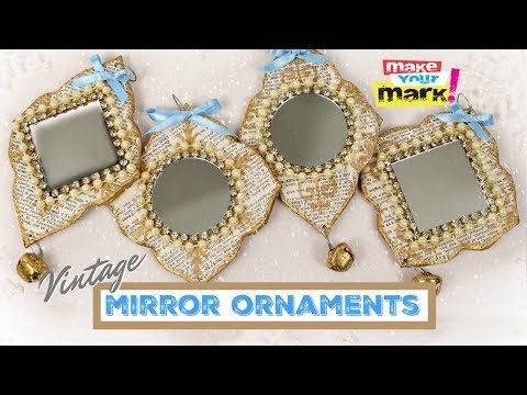 Vintage Mirror Ornaments