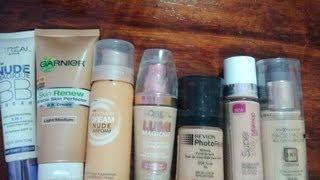 Bases de maquillaje(drugstore foundations)