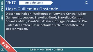 #061 [NMBS-SNCB] Eupen - Oostende / Ostende