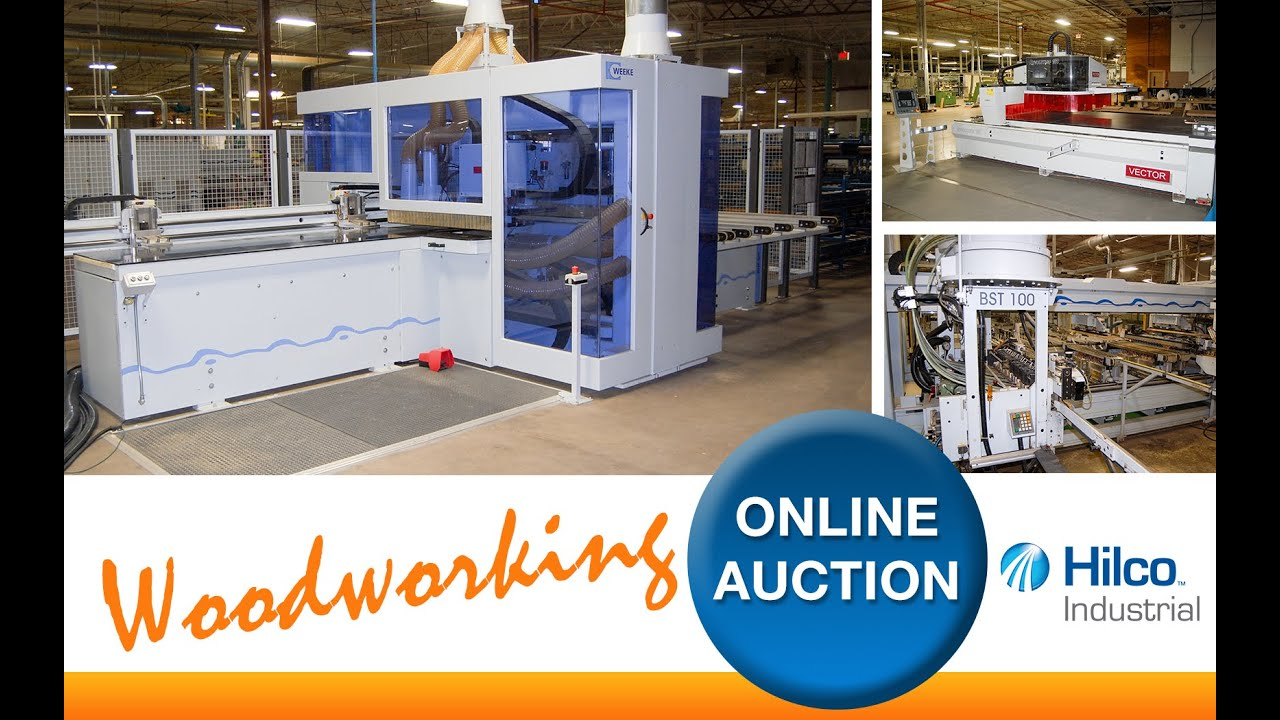 Cnc Woodworking Machinery At Online Auction Youtube