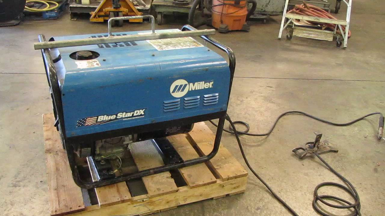 Miller Blue Star 185 DX Welder 6000 Watt Generator Kohler Gas Engine ...
