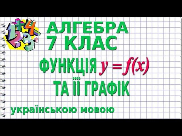 7 клас. Алгебра. ФУНКЦІЯ у = f (х) ТА ЇЇ ГРАФІК.