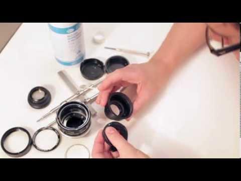 How to clean aperture oil, fungus Minolta 58mm 1.4 PF 1/2