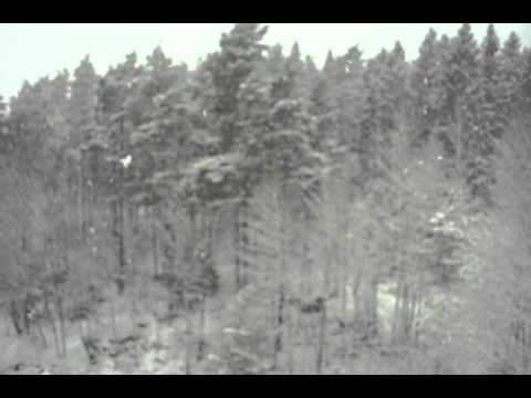 Heavy Snowfall in Boras, Sweden