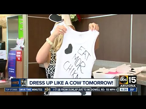 Dress up like a cow on Tuesday for a great deal at Chick-Fil-A