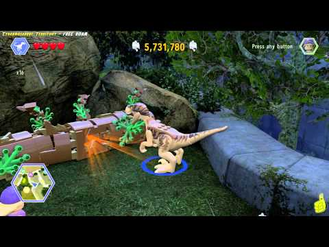 Lego Jurassic World: Tyrannosaurus Territory FREE ROAM (All Collectibles) - HTG
