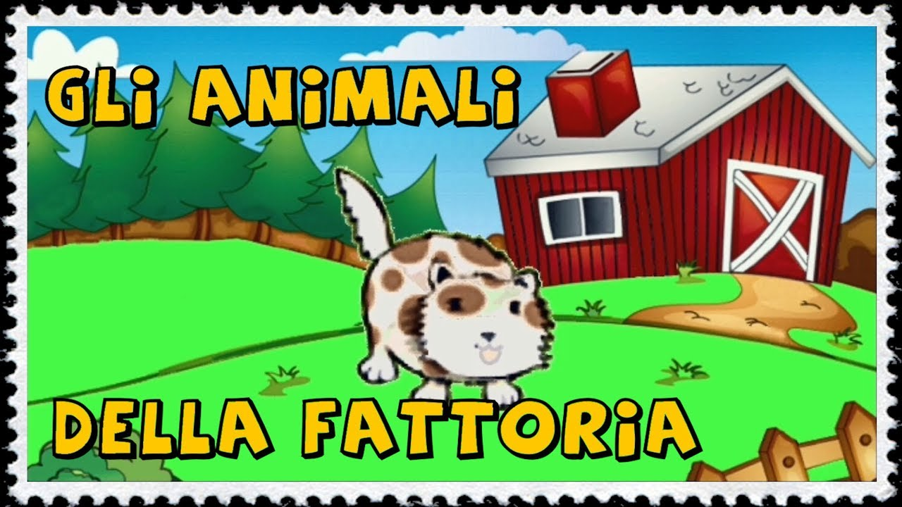 Gli animali della fattoria per i piccolissimi youtube for Planimetrie personalizzate della fattoria