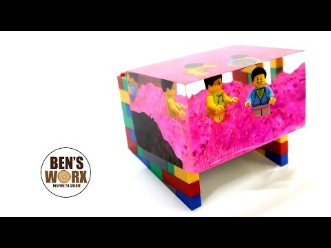 Casting Lego in clear resin