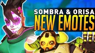 Overwatch - NEW EMOTES for Sombra & Orisa!
