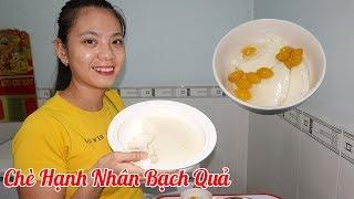 Thử nấu chè hạnh nhân bạch quả giải nhiệt mùa nóng